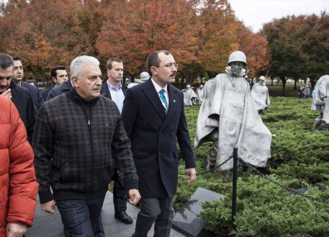 Başbakan Yıldırım Washingtonda yürüyüş yaptı