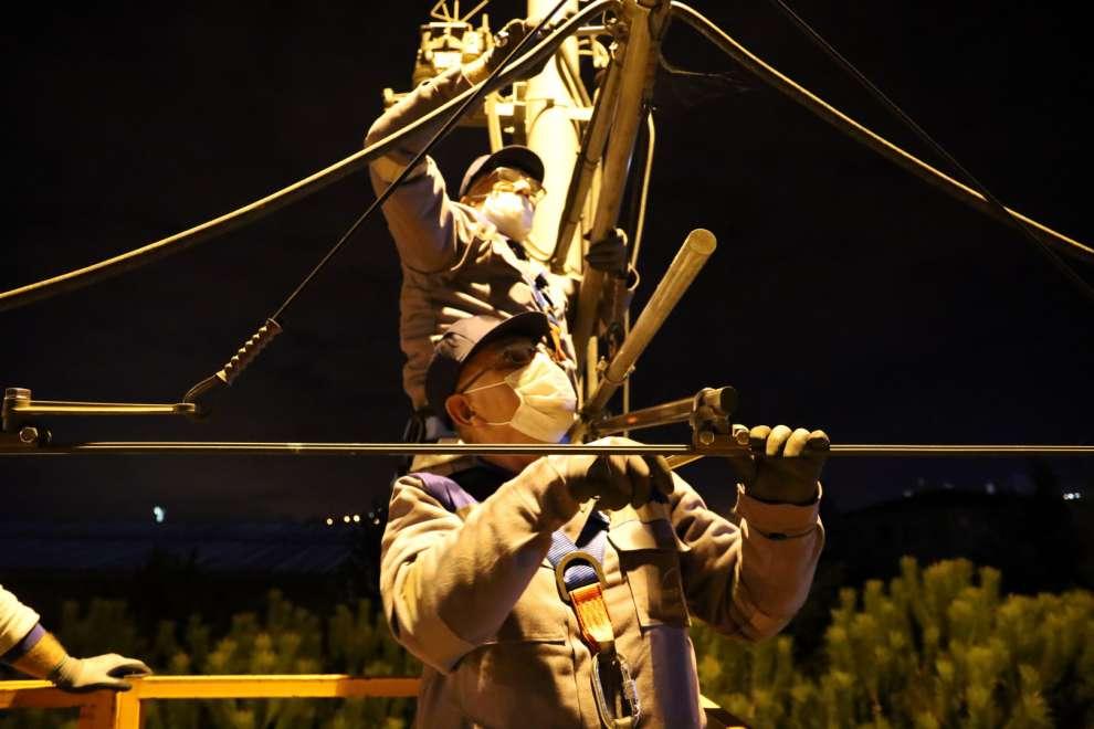 Güvenli yolculuk için Akçaray'a gece gündüz bakım