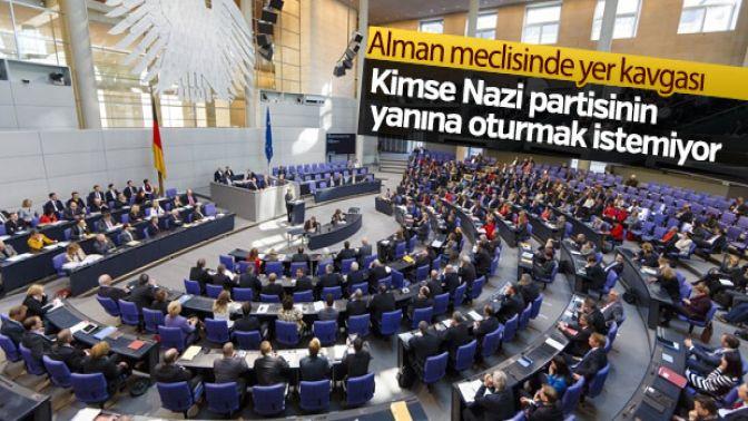 Alman meclisinde yer tartışması