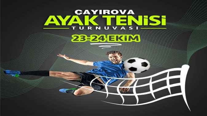 Ayak Tenisi Turnuvası başvuruları başladı