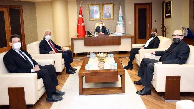 Başkan Büyükakın, Vatan Partisi'ni konuk etti