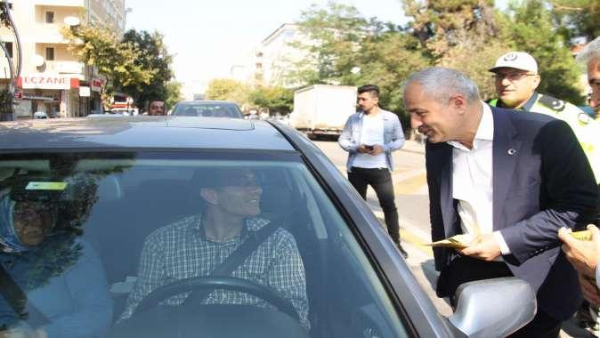 Başkan Büyükgöz trafik denetimine katıldı