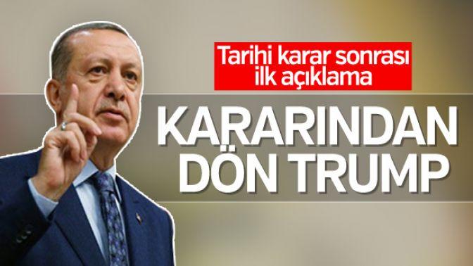BM kararı sonrası Erdoğandan ilk açıklama