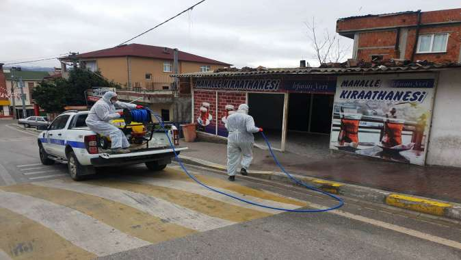 Dilovası, mahalle mahalle dezenfekte ediliyor