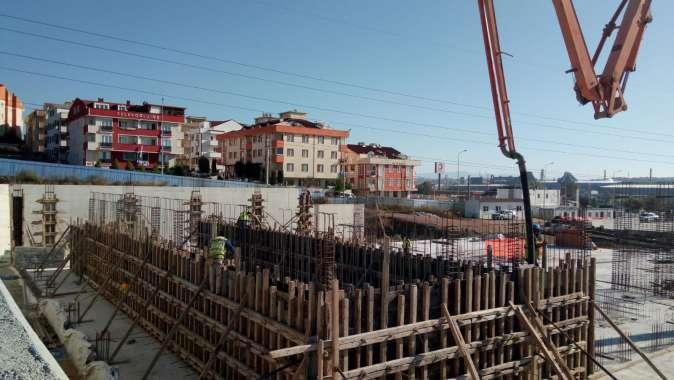Gebze spor kompleksinin çelik konstrüksiyon çalışmaları başladı