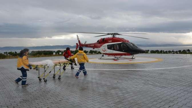 Kandıra'dan Darıca Farabi Devlet Hastanesi'ne Helikopterle Hasta Nakli