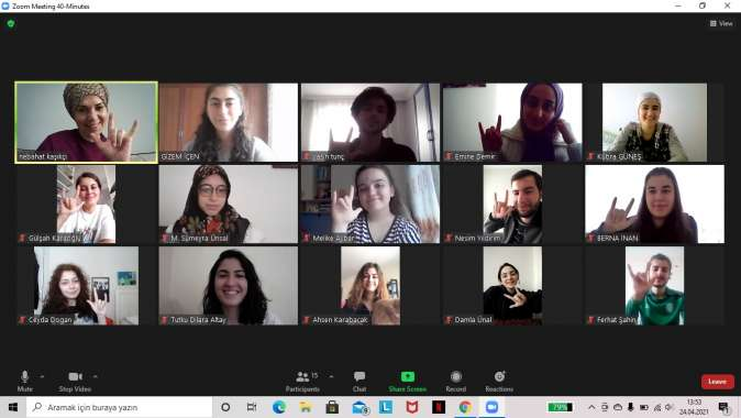 KO-MEK'ten Kızılay'a İşaret Dili Eğitimi