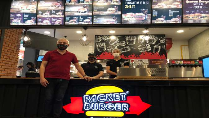 Packet Burger lezzeti Gebze'de