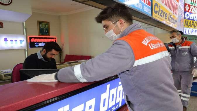 Terminalde detaylı temizlik
