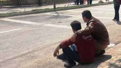 Babadan kazada ölen 5 yaşındaki oğluna son bakış