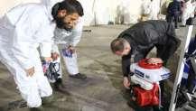 Büyükşehir'in dezenfektan timi yeni güne hazır