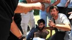 """Camideki """"canlı bomba"""" eylemcisi tahliye edildi"""