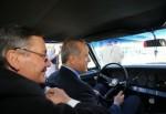 Cumhurbaşkanı Erdoğan direksiyon başına geçti