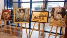 KO-MEK Resim branşı kursiyerleri eserlerini sergiledi