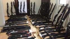 Konya'da ruhsatsız 63 tüfek ele geçti!