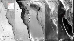 NASA kopan buz dağının görüntülerini yayınladı