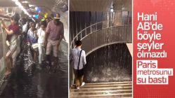 Paris metrosunu su bastı