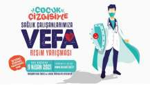 """""""Sağlık Çalışanlarına Vefa"""" resim yarışması"""