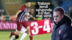 Trabzonspor 3-0'dan maç verdi