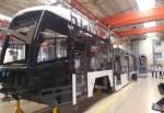 Tramvayın vagonları şekilleniyor