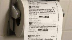 Trump'ın skandal tweetleri tuvalet kâğıdı oldu