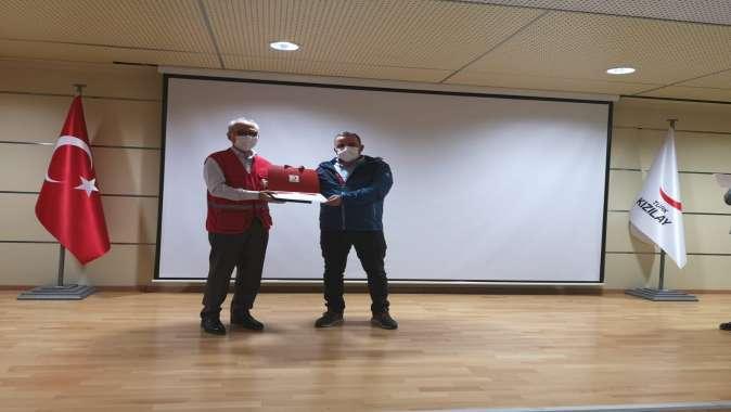 Türk Kızılay Darıca Şubesine Başarı Ödülü