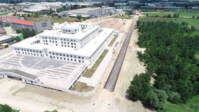 Yeni Emniyet Müdürlüğü çevre yollarında asfaltlamaya başlandı