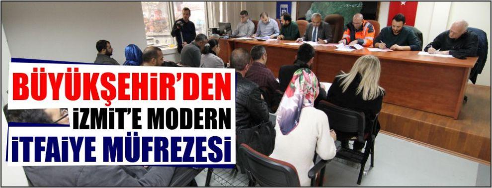 Büyükşehir'den İzmit'e modern İtfaiye Müfrezesi