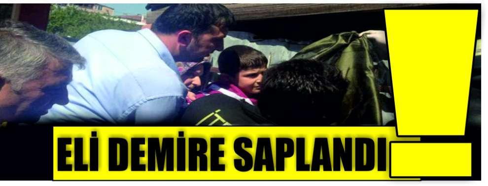Darıca'da Küçük çocuğun eli demire saplandı!