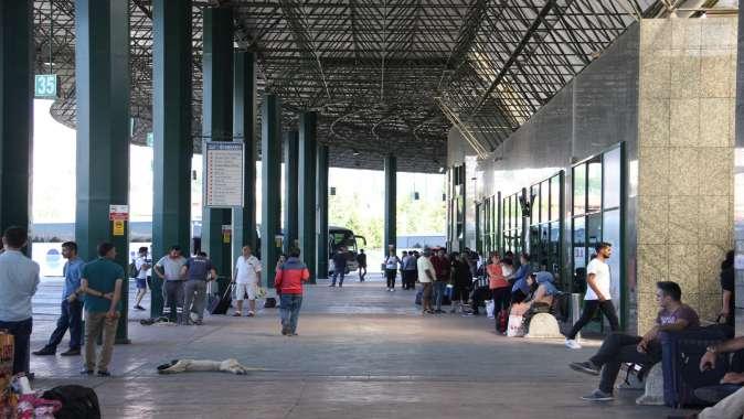 Terminal, bayramda 42 bin ziyaretçiyi ağırladı.